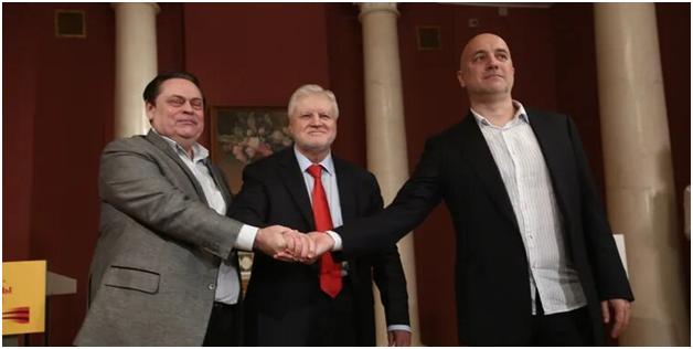 Лидеры трёх объединившихся партий противопоставили Кремлю манифест левопатриотических сил