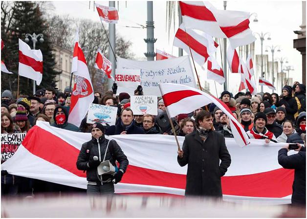 В Белоруссии запрещён красно-бело-красный стяг